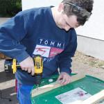 Halterung für die Holzplatte